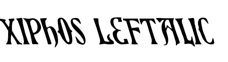 Xiphos Leftalic  नि: शुल्क फ़ॉन्ट्स डाउनलोड