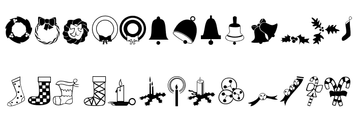 Xmas Font Dingbats Шрифта строчной