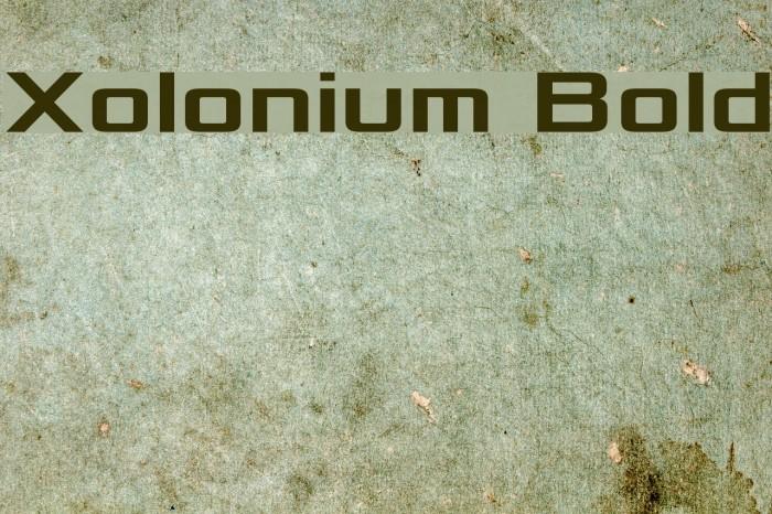 Xolonium Bold Font examples