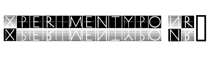 Xperimentypo Nr1  Free Fonts Download