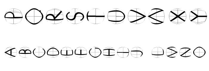 XperimentypoFourB Round Шрифта ДРУГИЕ символов