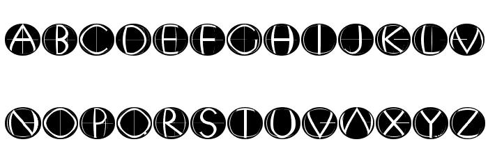 XperimentypoFourC RoundInvers 字体 大写