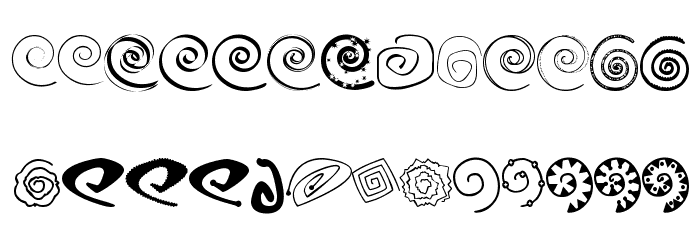 xspiralmental Font Litere mari