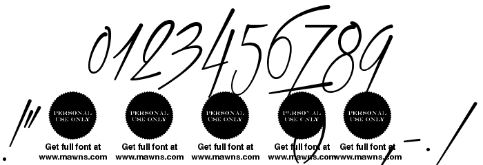 Xtreem Thin Demo Font OTHER CHARS