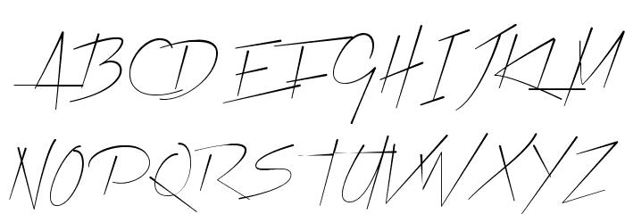 Xtreem Thin Demo Font UPPERCASE