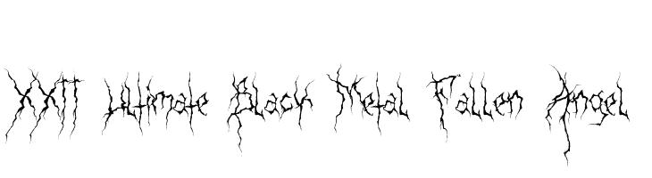 XXII Ultimate-Black-Metal Fallen-Angel  Free Fonts Download