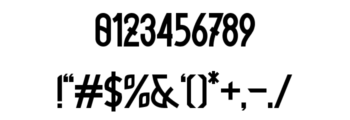 Xylene フォント その他の文字
