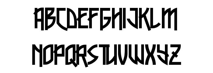 Xylene Font UPPERCASE