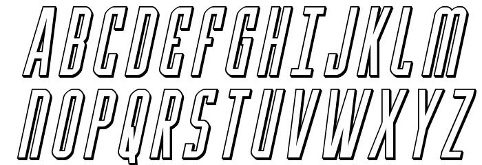 Y-Files 3D Italic फ़ॉन्ट अपरकेस