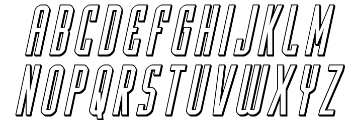 Y-Files 3D Italic फ़ॉन्ट लोअरकेस