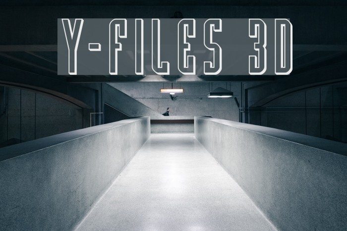 Y-Files 3D Шрифта examples
