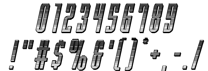 Y-Files Chrome Italic Font OTHER CHARS
