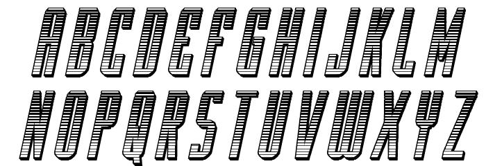 Y-Files Chrome Italic Font LOWERCASE