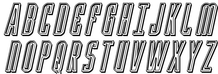 Y-Files Engraved Italic फ़ॉन्ट अपरकेस