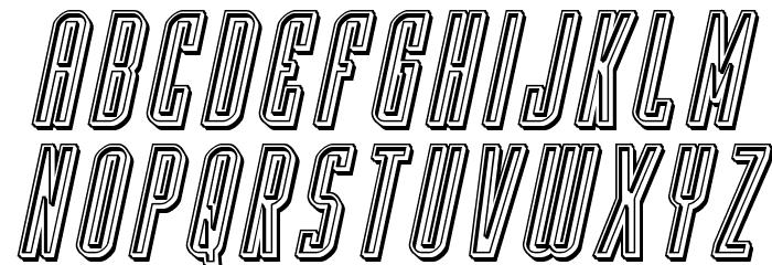 Y-Files Engraved Italic फ़ॉन्ट लोअरकेस