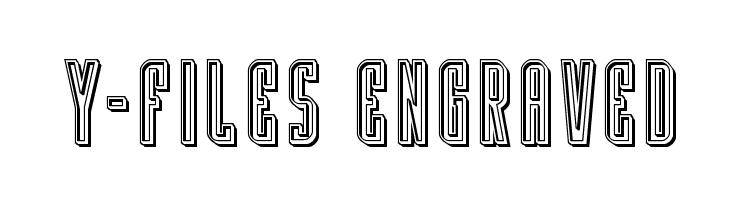 Y-Files Engraved  免费字体下载