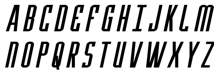 Y-Files Expanded Italic फ़ॉन्ट अपरकेस
