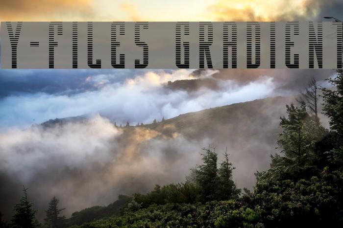Y-Files Gradient फ़ॉन्ट examples