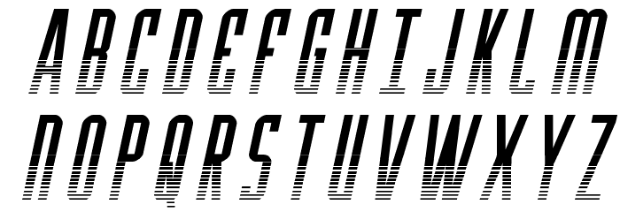 Y-Files Halftone Italic फ़ॉन्ट अपरकेस