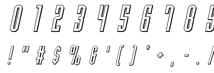 Y-Files Title 3D Italic Fonte OUTROS PERSONAGENS