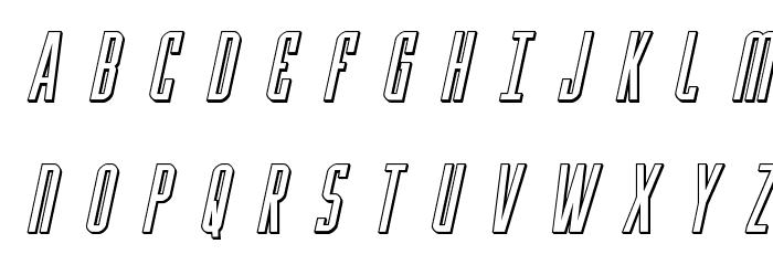 Y-Files Title 3D Italic Fonte MAIÚSCULAS