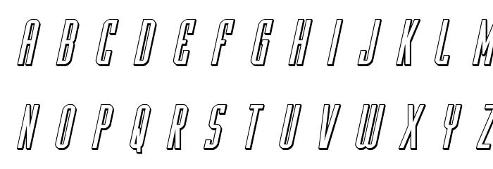 Y-Files Title 3D Italic Fonte MINÚSCULAS
