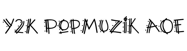 Y2K PopMuzik AOE  नि: शुल्क फ़ॉन्ट्स डाउनलोड