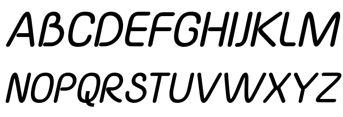 Yaahowu Bold Italic Italic फ़ॉन्ट अपरकेस