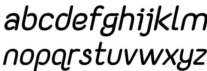 Yaahowu Bold Italic Italic फ़ॉन्ट लोअरकेस