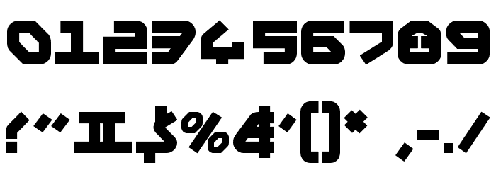 Yahren Bold Font OTHER CHARS