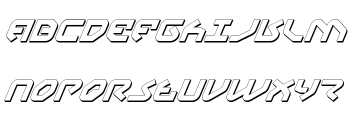 Yahren Shadow Italic Font UPPERCASE