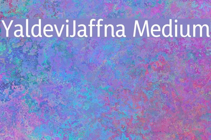 YaldeviJaffna Medium Fuentes examples