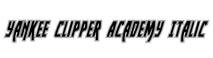 Yankee Clipper Academy Italic  baixar fontes gratis