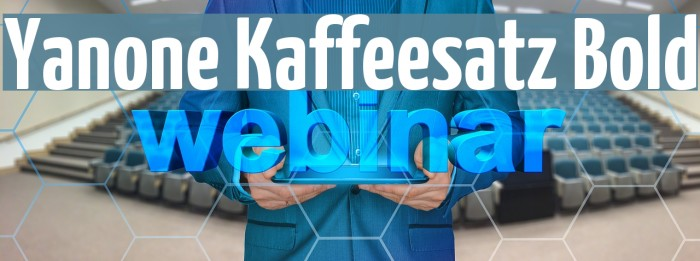 Yanone Kaffeesatz Bold Font examples