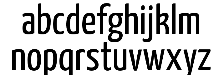 Yanone Kaffeesatz Regular Font LOWERCASE