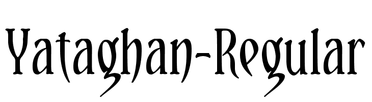 Yataghan-Regular  font caratteri gratis