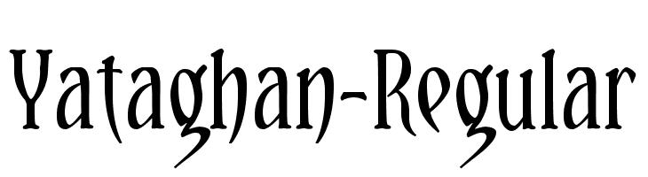 Yataghan-Regular  नि: शुल्क फ़ॉन्ट्स डाउनलोड