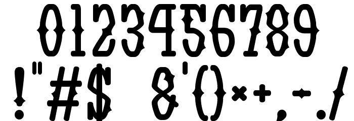Yatsurano Western Font Alte caractere