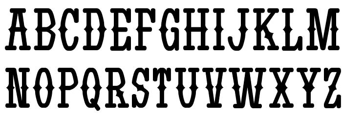 Yatsurano Western 字体 大写