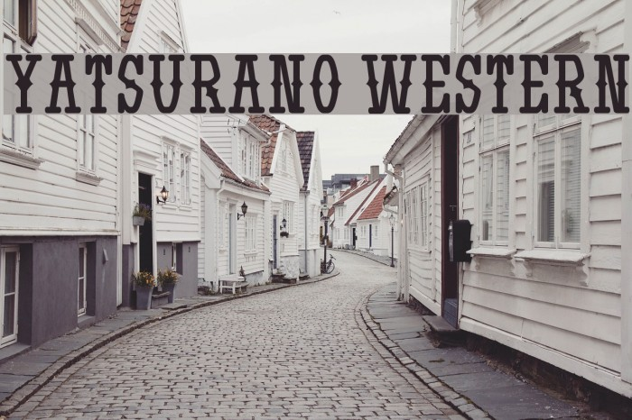Yatsurano Western Font examples