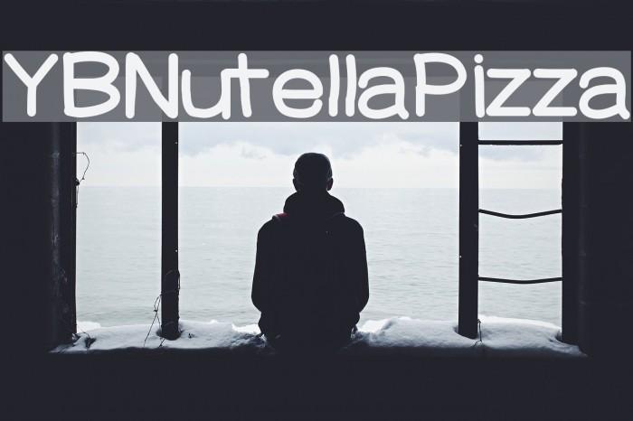 YBNutellaPizza फ़ॉन्ट examples