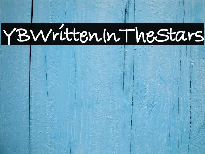 YBWrittenInTheStars لخطوط تنزيل examples