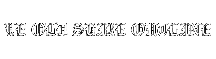 Ye Old Shire Outline  Free Fonts Download