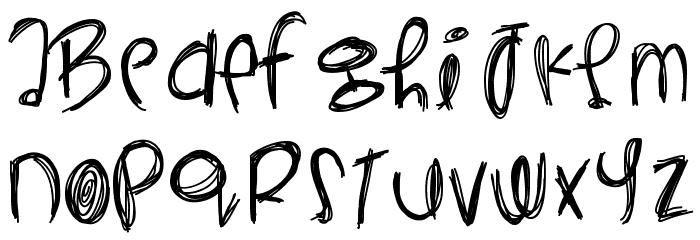 YeahYeahYeahs Font UPPERCASE