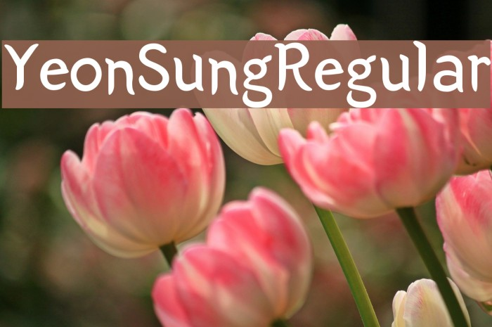 Yeon Sung Regular لخطوط تنزيل examples