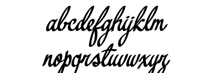 Yerbaluisa Font LOWERCASE