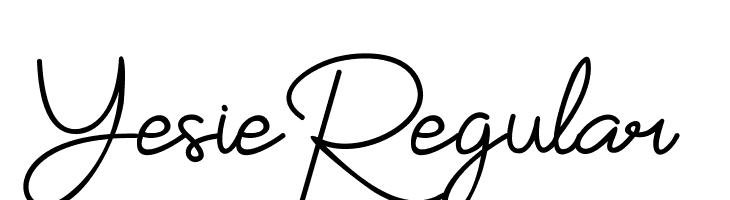 YesieRegular  フリーフォントのダウンロード