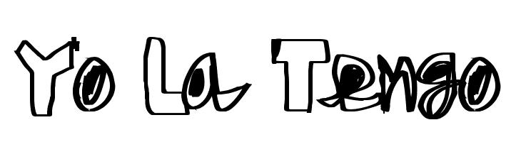 Yo La Tengo  Скачать бесплатные шрифты