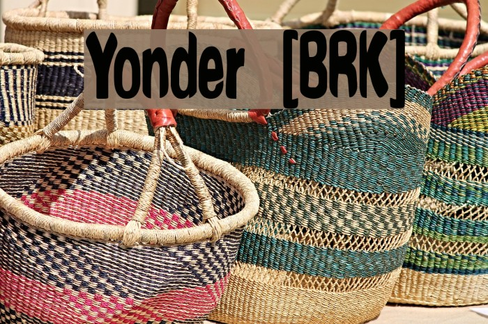 Yonder [BRK] Шрифта examples