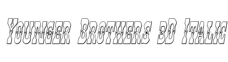 Younger Brothers 3D Italic  免费字体下载